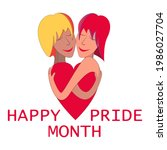 happy pride month background...   Shutterstock .eps vector #1986027704