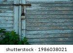 Old Blue Wooden Door Locked...