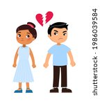 divorce concept. multiracial... | Shutterstock .eps vector #1986039584