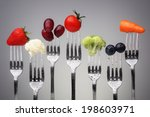 fruit and vegetable of silver... | Shutterstock . vector #198603971