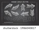 arrows and hand drawn shapes... | Shutterstock .eps vector #1986040817