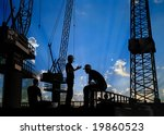the workers on a background of... | Shutterstock . vector #19860523