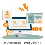 website page interface abstract ...