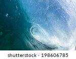 Ocean Blue Waves Swim Water...