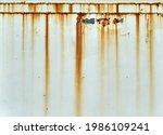 Orange Rust Streaks Down A...