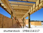 Construction Wood Framing On A...