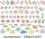 set of hand drawn style... | Shutterstock .eps vector #1986151697