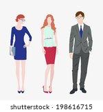 vector illustration two fashion ...
