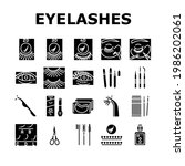 eyelashes extension collection...   Shutterstock .eps vector #1986202061