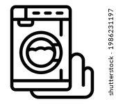 damaged washing machine icon.... | Shutterstock .eps vector #1986231197