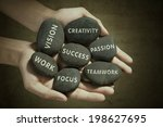 the parts to success written on ... | Shutterstock . vector #198627695