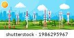 transmission cellular tower... | Shutterstock .eps vector #1986295967