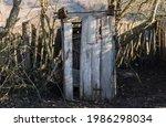 Outdoor Wooden Toilet In The...