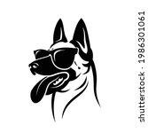 belgian shepherd dog malinois... | Shutterstock .eps vector #1986301061