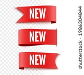 new sale tags on transparent...   Shutterstock .eps vector #1986304844