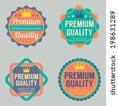 set of vintage retro badge | Shutterstock .eps vector #198631289