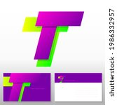 letter t logo design   abstract ... | Shutterstock .eps vector #1986332957