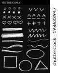 vector chalk shapes. hand drawn ... | Shutterstock .eps vector #198633947