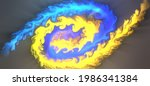 Fire Vortex Blue And Yellow...
