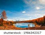 Kidelu Lake In Altai Mountains  ...