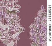 decorative floral background ... | Shutterstock .eps vector #198635399