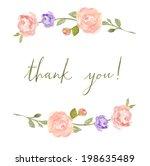 spring floral branches. laurel... | Shutterstock . vector #198635489