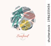 Seafood Banner With Salmon Fish ...
