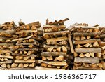Firewood Stacked In A Meadow...