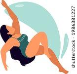 sea or ocean swimming woman....   Shutterstock .eps vector #1986381227