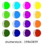 collection of glossy buttons ... | Shutterstock .eps vector #19863859