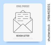 e mail thin line icon. open... | Shutterstock .eps vector #1986403031