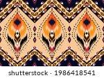 oriental ikat pattern ethnic...   Shutterstock .eps vector #1986418541