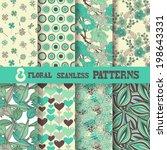 set of 8 elegant seamless...   Shutterstock .eps vector #198643331