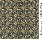 ethnic seamless pattern with... | Shutterstock .eps vector #1986443294