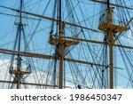 Old Sailing Ship In Danish...