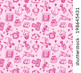 seamless doodle baby pattern... | Shutterstock .eps vector #198645431