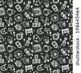 seamless doodle baby pattern... | Shutterstock .eps vector #198645464
