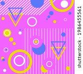 memphis magenta pattern with...   Shutterstock .eps vector #1986455561