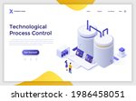 landing page template with...   Shutterstock .eps vector #1986458051