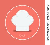 cook   vector cook hat icon... | Shutterstock .eps vector #198647099