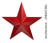 Red Star Isolated On White...