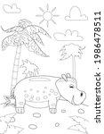 jungle  africa safari animal... | Shutterstock .eps vector #1986478511