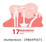 indonesia independence day... | Shutterstock .eps vector #1986495671