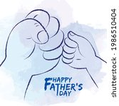 father and son fist bump in... | Shutterstock .eps vector #1986510404