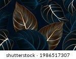 vintafe luxury golden seamless...   Shutterstock .eps vector #1986517307