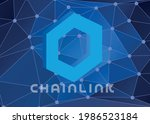 chainlink coin symbol with...   Shutterstock .eps vector #1986523184