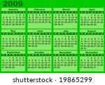 calendar 2009 | Shutterstock .eps vector #19865299