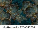 vintage luxury seamless floral...   Shutterstock .eps vector #1986530204