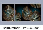 a set of 3 canvases for wall... | Shutterstock .eps vector #1986530504