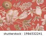 vintage spring background.... | Shutterstock .eps vector #1986532241